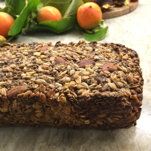 nut grain bread close up