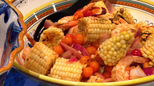 prawns and corn wheelPNG