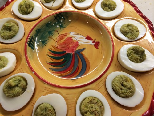 green spider egg mash in shells.JPG