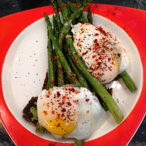 poached eggs asparagus orange1.JPG