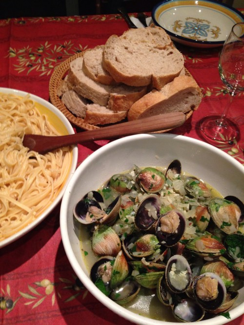 linguini clams table shotJPG