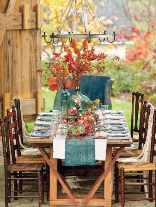 beautiful rustic farm table