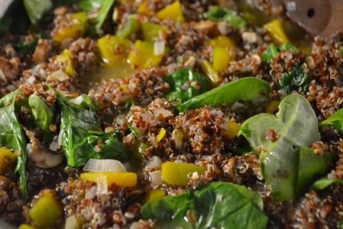 quinoa risotto pan 1