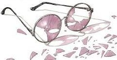 Shattered rose colored glasses
