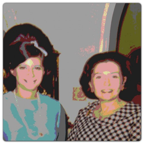 Three Generations Andy Warhol Style: Since my mother typically hates all pictures of herself, I have made this one a bit more artistic. She is pictured at her baby shower along with my paternal grandmother 'Ginny'.