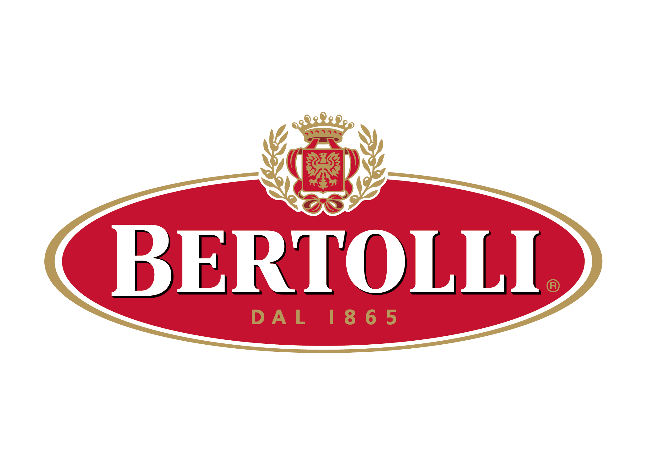 Italian Restaurant Logo With Flag: Bertolli