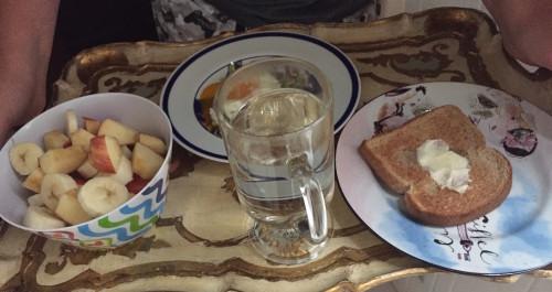 breakfast in bed shot