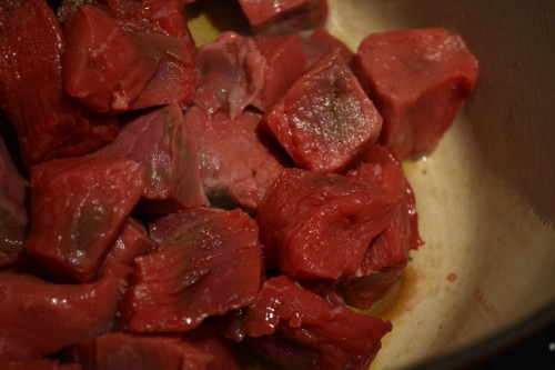 guin stew raw meat