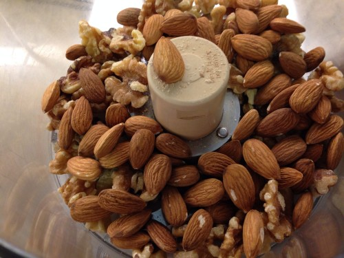 almonds and walnuts