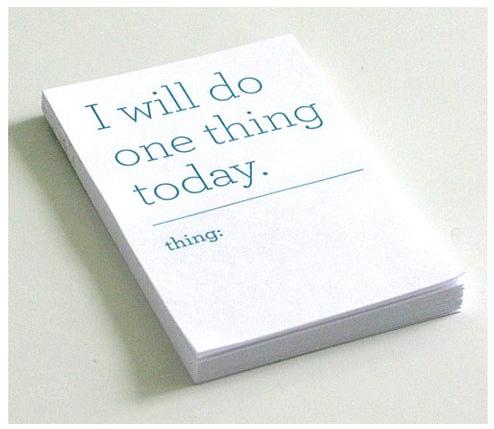 single task book